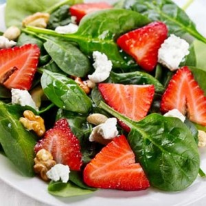 Spinach Salad with Strawberry Lime Vinaigrette