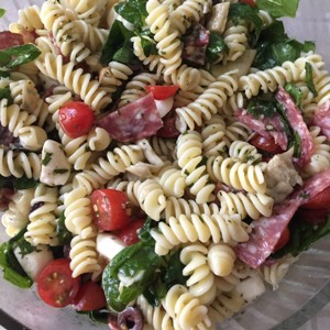 Summer Pasta Salad with Tuscan Herb Lambrusco Dressing